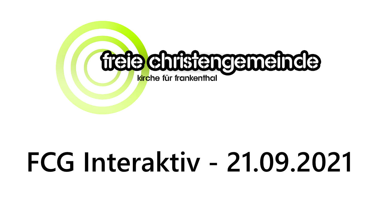FCG Interaktiv am 21.09.2021